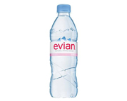 EVIAN NATURAL SPRING WATER AGUA MINERAL SIN GAS 500ML